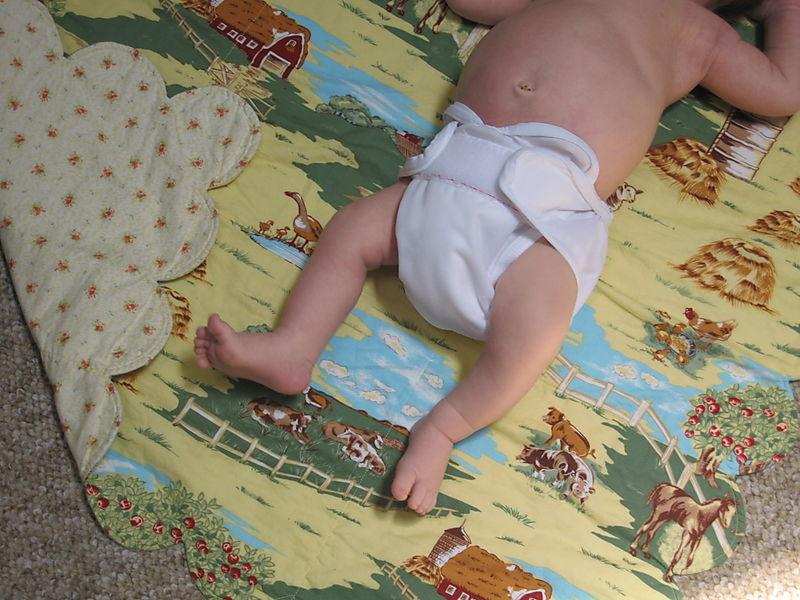 Scallop baby quilt